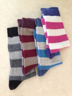Tri-Color Crew Socks