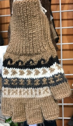Peruvian Fingerless Alpaca Gloves