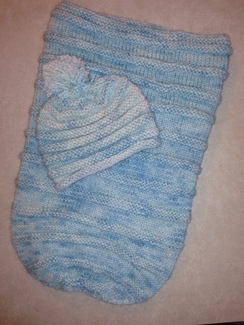 Photo of Handknit Baby Bunting