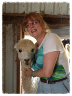 My new alpaca friend. She was just so lovable.