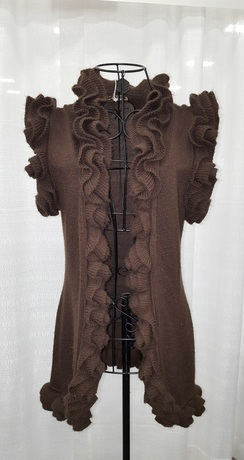 Beautiful Brown Ruffle Sweater
