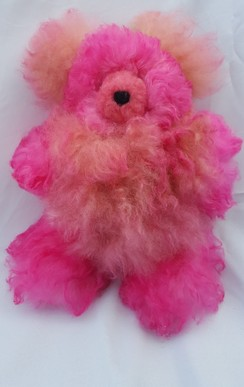 Photo of Blue and Pink dyed bears
