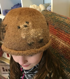 Felted Alpaca Hat and Woven Rug