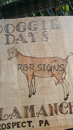 RBR Pyrographic Signs and Wood Art