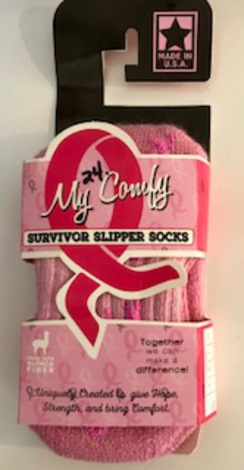 Photo of My Comfy Survivor Slipper Socks