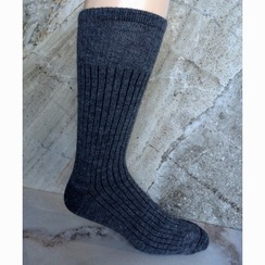 Photo of SOCKS: 75% Alpaca RIBBED DRESS Sock