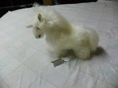 Photo of  Toy White Unicorn Baby Alpaca Fur
