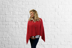 Poncho/Shawl Red