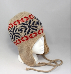 Snow Flake Ear Flap Hat