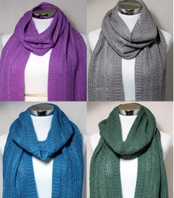 Cable Lace Scarve Colors
