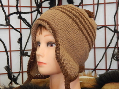 Photo of 100% knitted alpaca hat