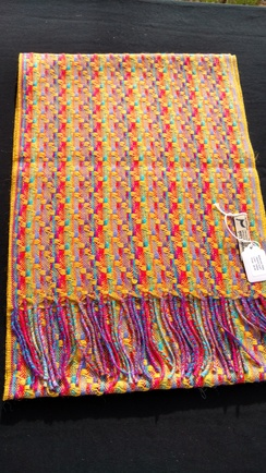 Photo of Multicolor Weave Baby Alpaca Scarf