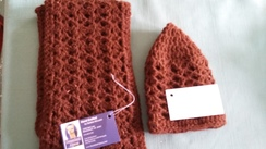 100% Alpaca Hat and Scarf Set