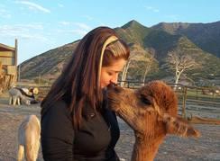 Alpaca kisses are the best!