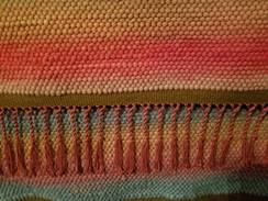 Shades of Autumn - handwoven rug