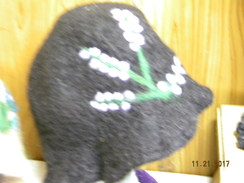 Black Felted Hat