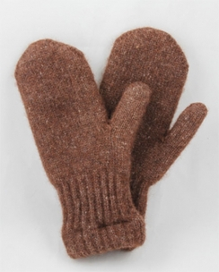 Photo of Bouclé Lined Alpaca Mittens Natural