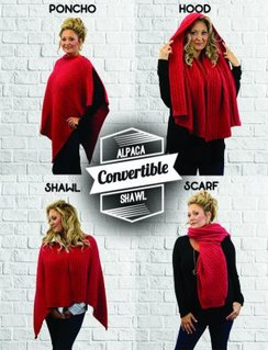 Convertible Shawl-4 Shawls in ONE!