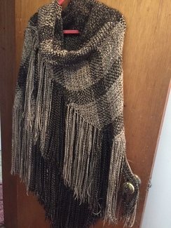 GORGEOUS SURI ALPACA LONG SHAWL