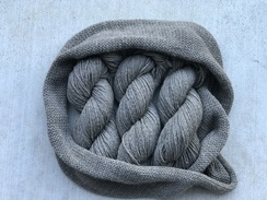 Photo of 3 ply DK Ash Gray Alpaca Yarn