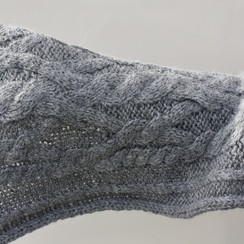 Cable Knit Alpaca Scarf