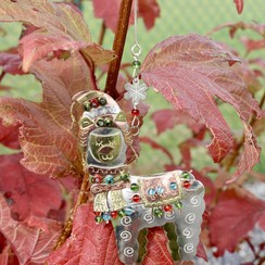 Metal Alpaca Christmas Ornament