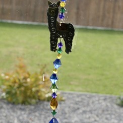 Whimsical Alpaca Suncatcher