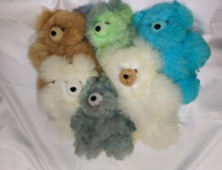Photo of 100% Alpaca Bears Hand-Dyed