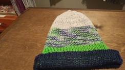 Photo of Knitted Beanies in Team Colors