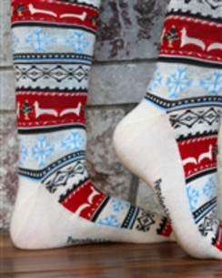 Photo of ALPACA PRINT CHRISTMAS SOCKS