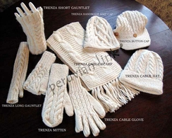 Photo of Trenza Cable Alpaca Handknit Gloves
