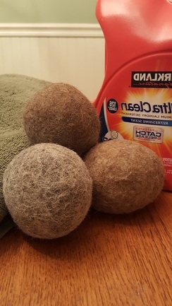 Set of 3 -  Felted Dryer Balls