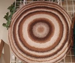 Round Felted Alpaca Rug
