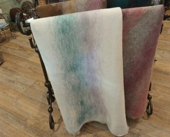 Photo of Muticolor Needle Felted Alpaca Fabric
