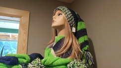 Photo of Knitted Hat & Tassle Fringe