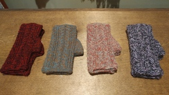 Photo of Multicolor Alpaca Fingerless Gloves