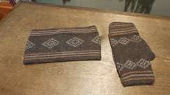 Photo of Alpaca Headband & Fingerless Gloves