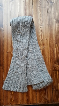 Hand-Knit Versatile Long Scarf