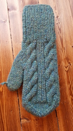 Photo of Hand-Knit Chunky Mitts