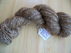 Hand spun tweed yarn