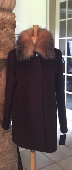 Alpaca/Wool with Fox collar coat
