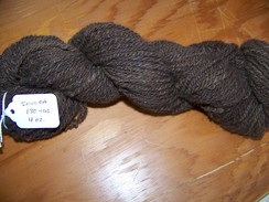 Photo of Hand spun dark brown yarn