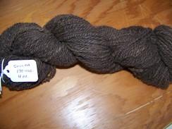 Hand spun dark brown yarn