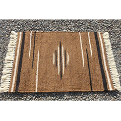 Photo of Rug: Mocha Latte w Black Alpaca Area Rug