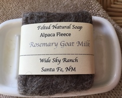 Rosemary Goat Milk Alpaca Felted Soap