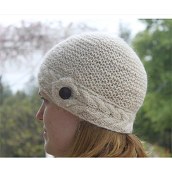 Photo of Cable Brim Cloche 100% Baby Alpaca