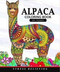 Alpaca Coloring Book-Alpaca Art Therapy