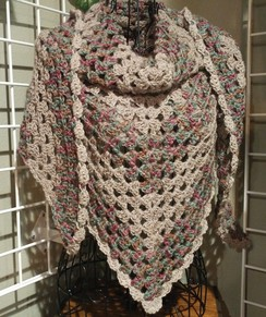 Photo of Misty's Crocheted Alpaca Shawl