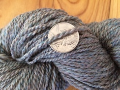 Photo of Yarn-alpaca, dyed merino, and silk