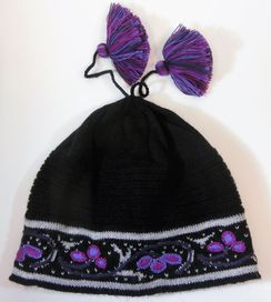 Purple Rain Alpaca Cap